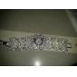 Femme Montre Tendance Bracelet de Montre Japonais Quartz Imitation de diamant Alliage Bande Fleur Etincelant Elégant Argent