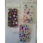 Colorful Cell Pattern Hard Case for iPhone 4 and 4S (Multi-Color)