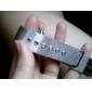 Hommes Montre Bracelet Quartz Acier Inoxydable Bande Argent Marque