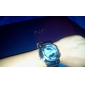 Unisex Double-Movement Multi-Functional Blue Face Black Silicone Band Sporty Wrist Watch Cool Watch Unique Watch