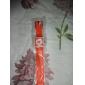 남녀 창조적 두 점 다이얼 실리콘 밴드 석영 아날로그 손목 시계 (오렌지)