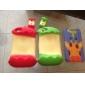 Etui de Protection en Silicone Style Pomme Croquée pour iPhone 4/4S - Couleurs Assorties