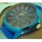 Reloj Pulsera de Moda Quartz Con Correa de Silicona Azul