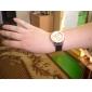 여성의 석영 아날로그 3 나비 패턴 PU 밴드 손목 시계 (분류 된 색깔)