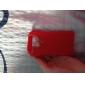 roupas de frio capa de silicone suave para iphone 4 (vermelho)