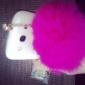 토끼 모피 공 3.5 mm 안티 먼지 이어폰 잭 iphone 8 7 삼성 갤럭시 s8 s7 ipad