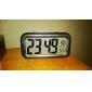 Blue Backlight LCD Digital Alarm Clock Calendar (3xAAA)