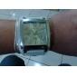 унисекс квадратный корпус белый циферблат широкий PU Группа Кварцевые наручные часы
