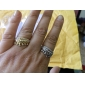 Woman's Rhinestone Crown Ring (Assorted Color)