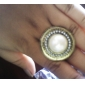 Round Pearl Alloy Ring