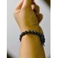 Муж. Strand Браслеты Драгоценный камень Естественный черный Уникальный дизайн Магнитная терапия Мода Синтетические драгоценные камни