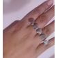 Z&X®  Retro Lingking Heart Double Finger Ring