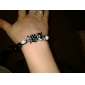 hibou modèle de balle tricoté à la main bleue de bracelet