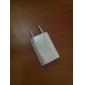 Laddadapter EU-kontakt till USB för iPhone 5 (Vit)(5V,0.5A)