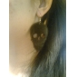 Lureme®Sheet Iron Skull Hollow Earrings
