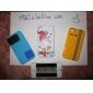 아이폰4용 케이블랩이 있는 실리콘 블록케이스