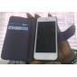 Однотонный чехол из кожзама для iPhone 5 со слотом для денег и кредитных карт (разные цвета)