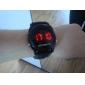 Da uomo Orologio da polso Digitale LED Calendario Silicone Banda Nero