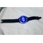 Unisex Blue LED Digital Black Ceramic Band Wrist Watch Cool Watch Unique Watch