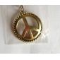 Collier antique symbole de la paix en cuivre