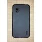 Enkle konstruksjoner TPU myk veske for Nexus 4 E960 (Assorterte farger)
