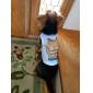 Chien Tee-shirt Vêtements pour Chien Dessin-Animé Blanc Costume Pour les animaux domestiques