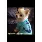 Собака Футболка Одежда для собак Праздник Мода Морской Синий
