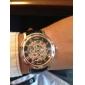 WINNER Hommes Montre Bracelet Montre mécanique Remontage automatique Gravure ajourée Polyuréthane Bande Luxe Noir Blanc Noir Rouge Bronze