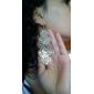Forme de Feuille Boucles d'oreille goutte Bijoux Femme Soirée Alliage Argent