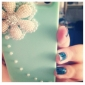 Zircon Flowers Pattern Hard Case for iPhone 5/5S