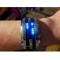Herre Armbåndsur Unike kreative Watch Digital Kalender LED Rustfritt stål Band Sølv