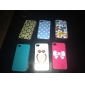 Relief Lovely Owl Pattern Hard Case for iPhone 4/4S (Multi-color)