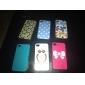 Рельеф Прекрасные Сова Pattern Жесткий чехол для iPhone 4/4S (многоцветные)
