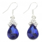 Earring Drop Earrings Jewelry Women Party Alloy / Zircon Blue