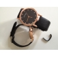 Pair of PU Analog Quartz Couple's Watches (Assorted Colors)