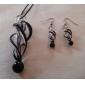 Женские спиральные Vaidurya ожерелье и серьги