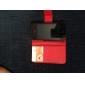 Capa elegante de couro pu para o iphone 4 e 4S