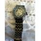 Мужской Часы со скелетом Механические часы С гравировкой С автоподзаводом Нержавеющая сталь Группа Черный