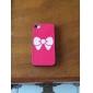 화이트 명소 아이폰 4/4S에 대한 뒷 표지 Bowknot