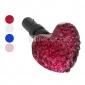 forme de coeur de couleur pure joyland anti-poussière prise du casque (couleur de ramdon)