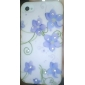 아이폰 4와 4S를위한 푸른 꽃 패턴 하드 케이스