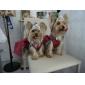 Собака Платья Одежда для собак Праздник Свадьба Мода Однотонный Пайетки Красный Синий Костюм Для домашних животных