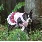 rendas vestido de veludo com saia xadrez escocês para cães (XS-XL, cores sortidas)