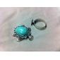 Turquoise Rhinestone Adjustable Tortoise Ring