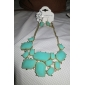 Gem Fluorecent Color Rein Necklace + Earring et