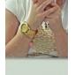 여성용 콰츠 아날로드 골드 매쉬 스틸 밴드 손목 시계 (다양한 색상)