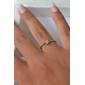 Crystal Diamond Inlaid Aesthetic RingImitation Diamond Birthstone