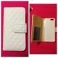 Etui en Similicuir pour iPhone 5/5S avec Port Carte SD et Fermoir (Blanc)