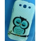 Sleeping Owl Pattern Hard Case for Samsung Galaxy S3 I9300