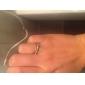 lureme®gold cristaux plaqué anneau en acier inoxydable (de taille aléatoire)